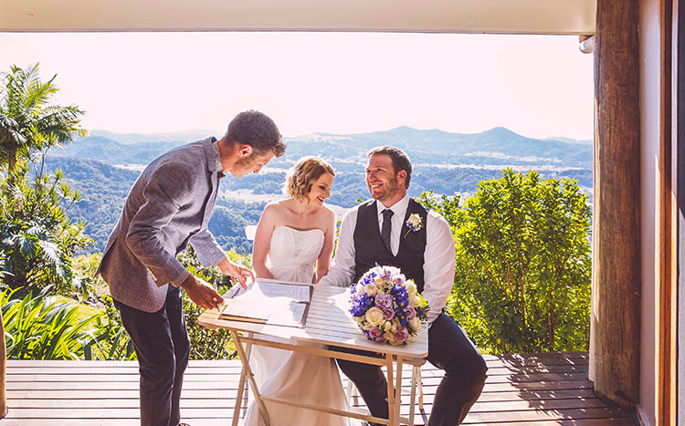 Byron Bay Hinterland Elopement - Hitched In Paradise - Benjamin Carlyle