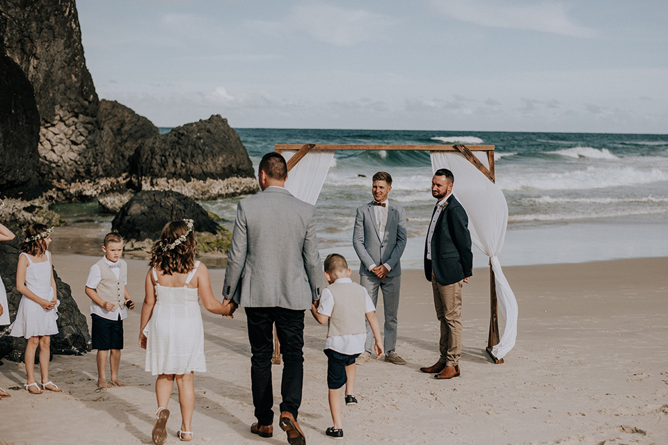 Dreamtime Beach Gay Wedding - Hitched in Paradise - Tweed Coast Elopement