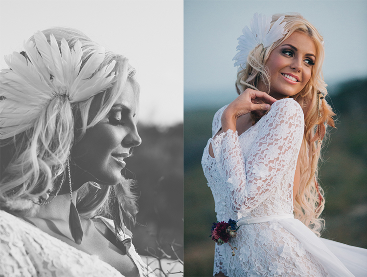Bohemian Elopement Pic - We are Twine, Begitta Bridal Couture Dress