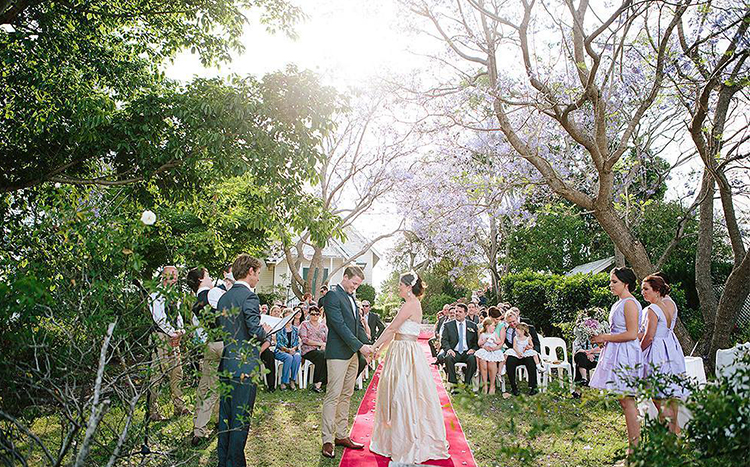 Gold Coast Hinterland Marriage Celebrant. Albert River Winery Wedding. Pic Alyce & Colette