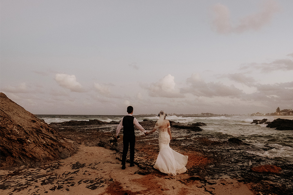 Currumbin Beach Elopements - Hitched In Paradise - Van Middleton Photography