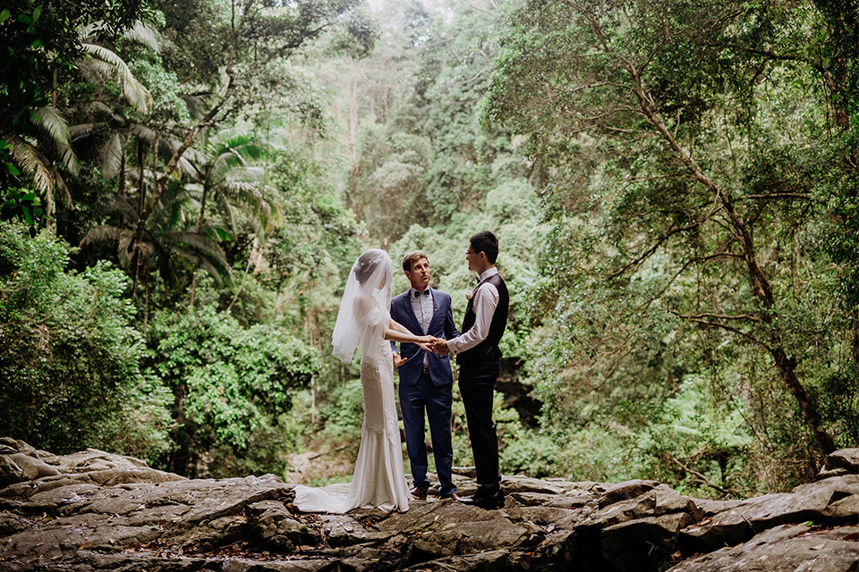 Byron Bay Elopement - Hitched In Paradise - Rain Forest Wedding - Benjamin Carlyle