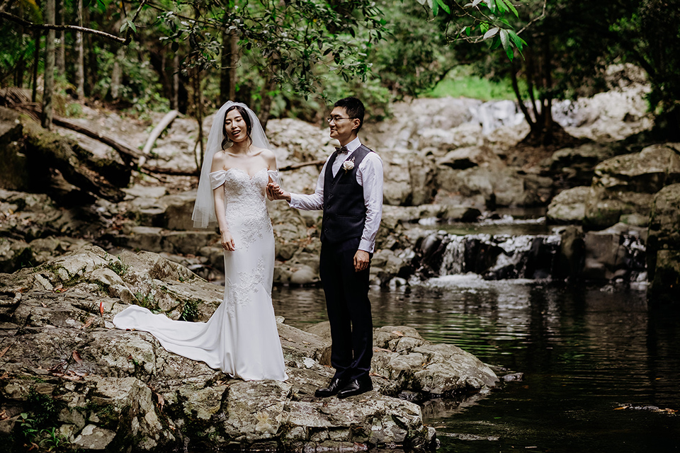 Currumbin Rock Pool Elopement - Hitched In paradise - Rainforest Wedding
