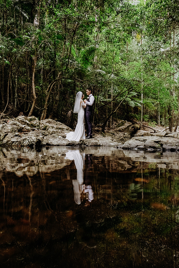 Hitched in Paradise -Gold Coast Rock Pool Elopements - Van Middleton Photgraphy