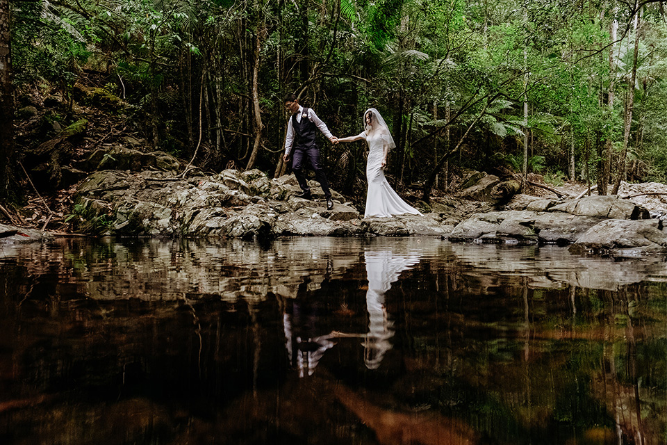 Currumbin Rock Pool Elopements - Hitched In paradise - Rainforest Wedding