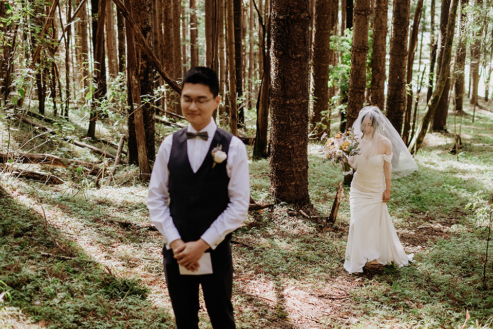 Currumbin Valley Elopement - Gold Coast Wedding - Hitched In Paradise - First Look Shoot