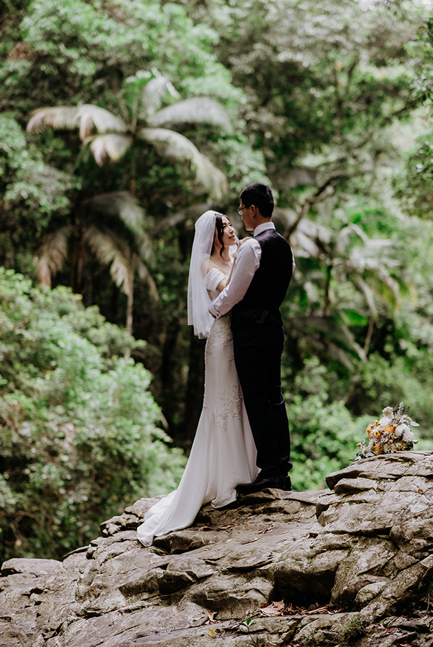 Hitched in Paradise -Gold Coast Rainforest Elopement - Van Middleton Photgraphy