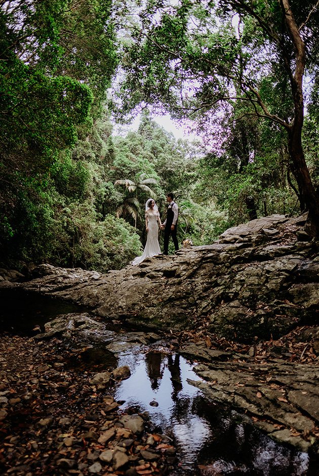 Hitched in Paradise -Gold Coast Rainforest Elopements - Van Middleton Photgraphy