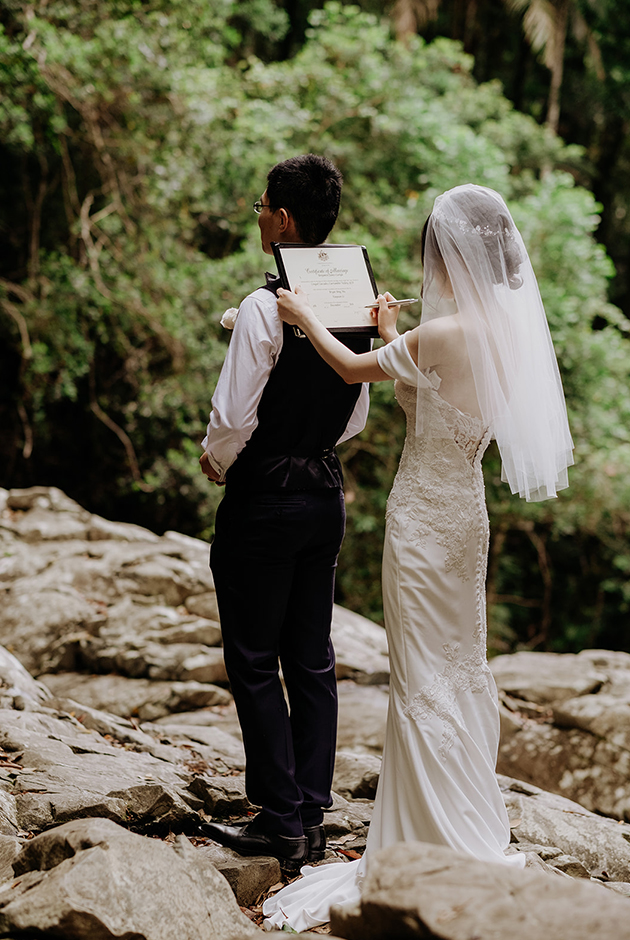 Tweed Coast Elopements - Hitched In Paradise - Rain Forest Intimate Wedding