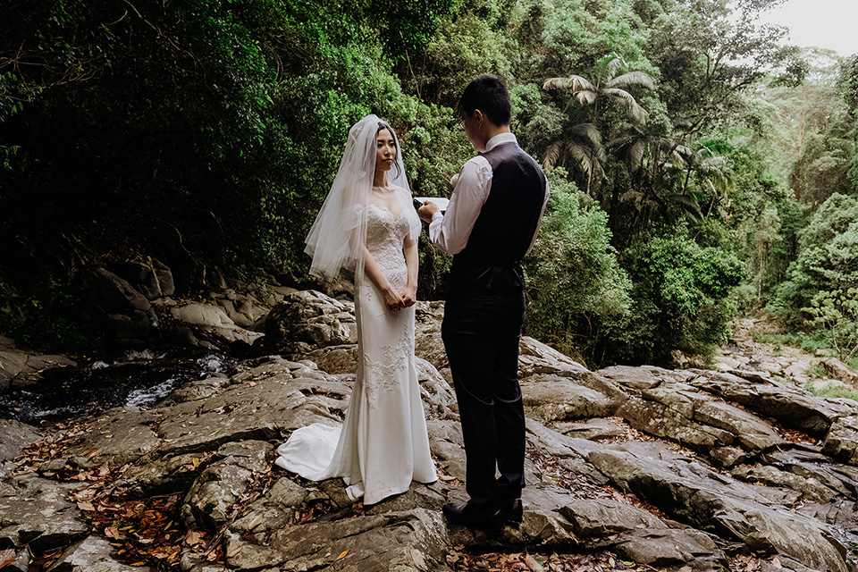 Gold Coast Elopements - Hitched In Paradise - Rain Forest Wedding Vows
