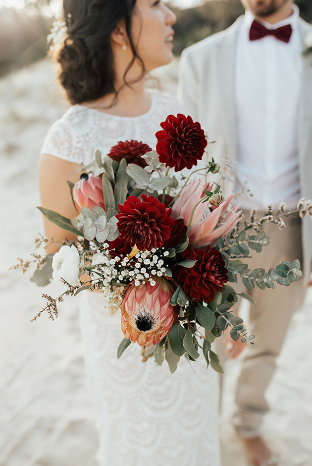 Tweed Coast Wedding Blooms - Hitched In Paradise - Fingal Beach