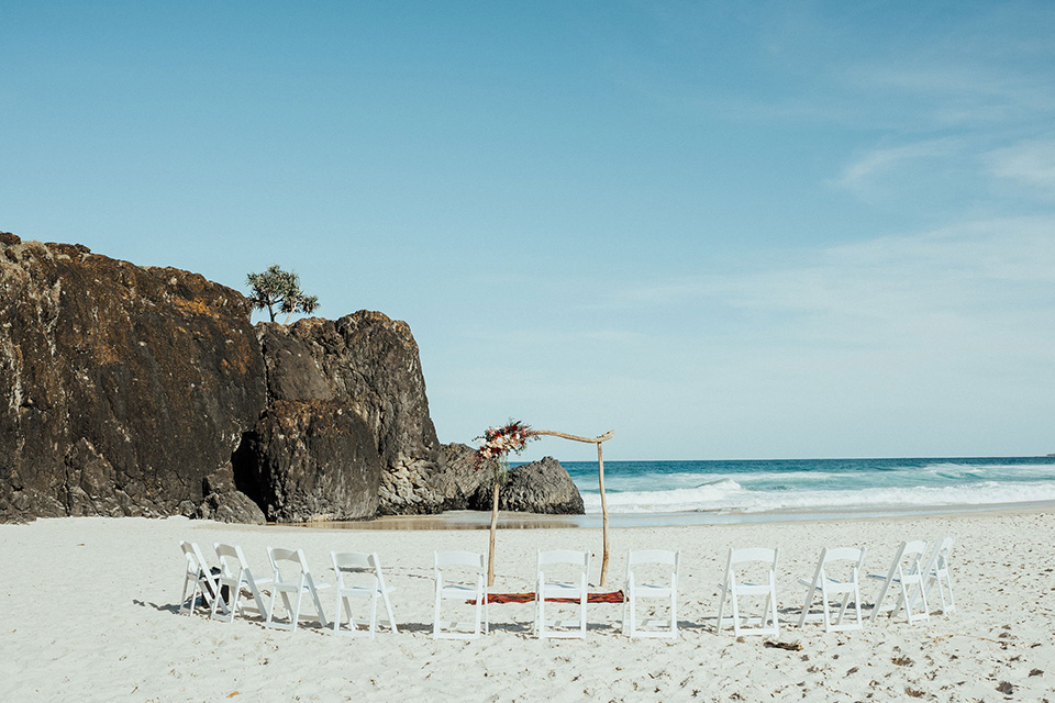 Tweed Coast Wedding - Hitched In Paradise Elopement - Fingal Beach