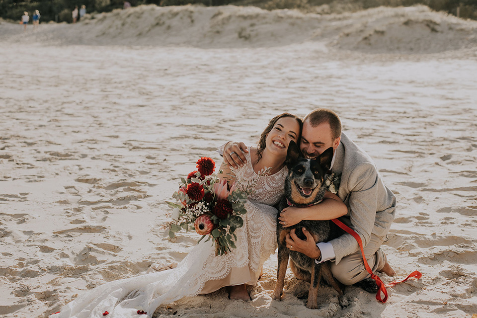Tweed Coast Dog Friendly Wedding - Hitched In Paradise - Fingal Beach