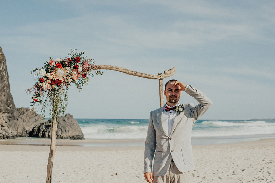 Fingal Beach Wedding - Hitched iN Paradise Elopement
