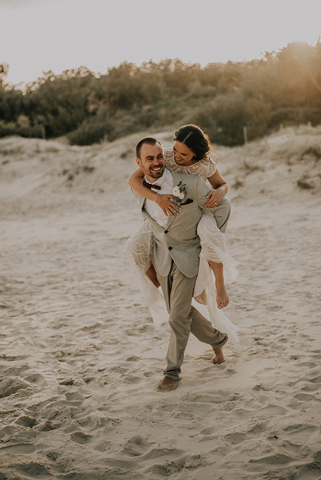 Steph & Mitch - Hitched In Paradise - Fingal Beach Elopement
