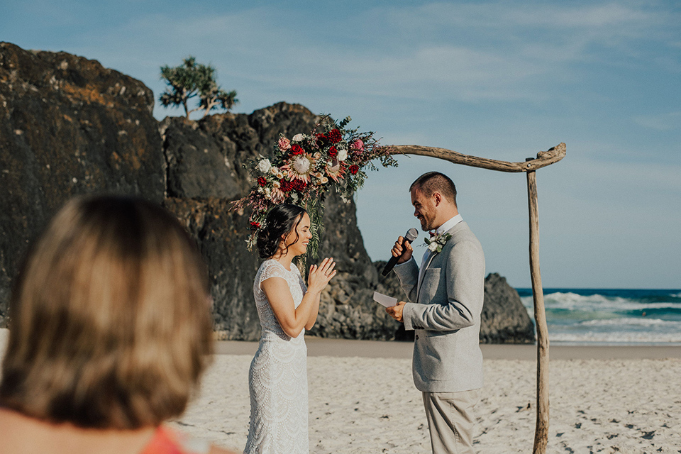 Tweed Coast Beach Wedding Vows - Hitched In Paradise Elopement