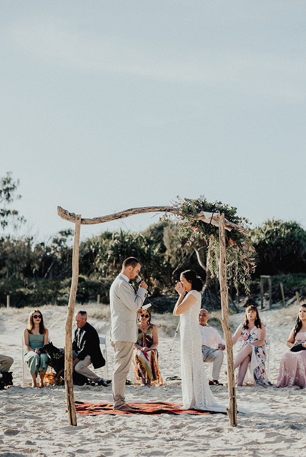 Tweed Coast Beach Wedding Vow - Hitched In Paradise Elopement