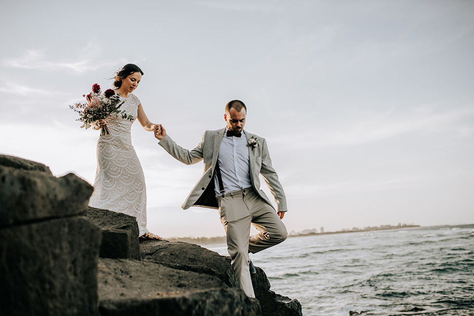 Steph & Mitch - Hitched In Paradise - Gold Coast Elopement