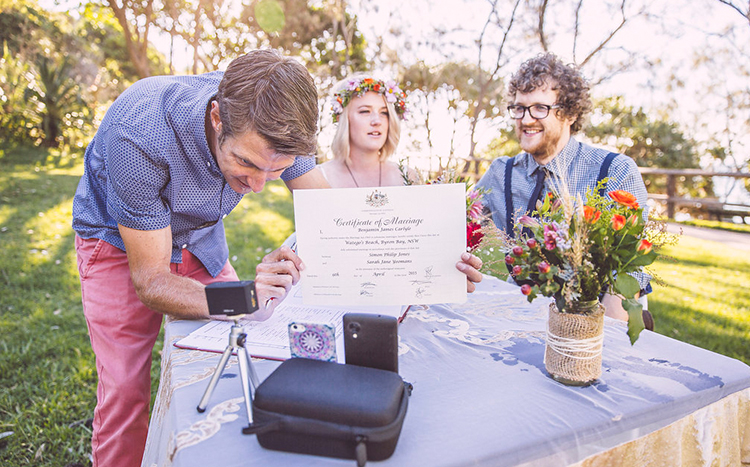 Byron Bay Elopement - Benjamin Carlyle Marriage Celebrant