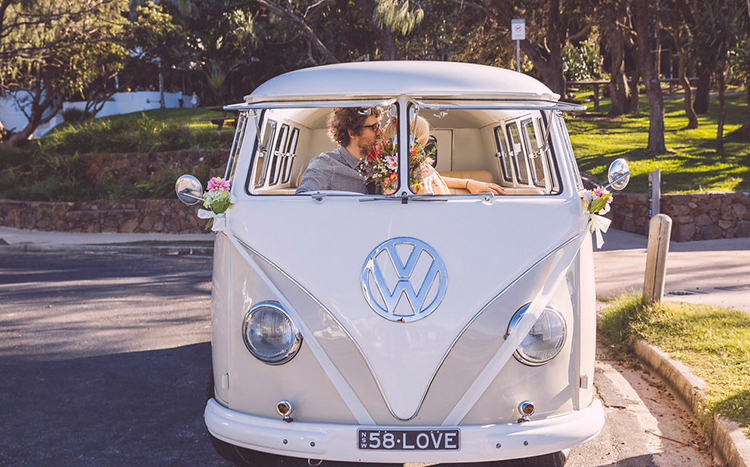 Byron Bay Elopement Kombi - Coast 58