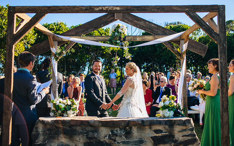 Byron Bay Wedding Celebrant. Pic - Cam Neville. Dunes On Shelley