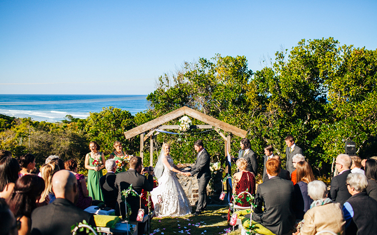 Dunes on Shelly Beach Wedding. Byron Bay Wedding Celebrant. Pic - Cam Neville.