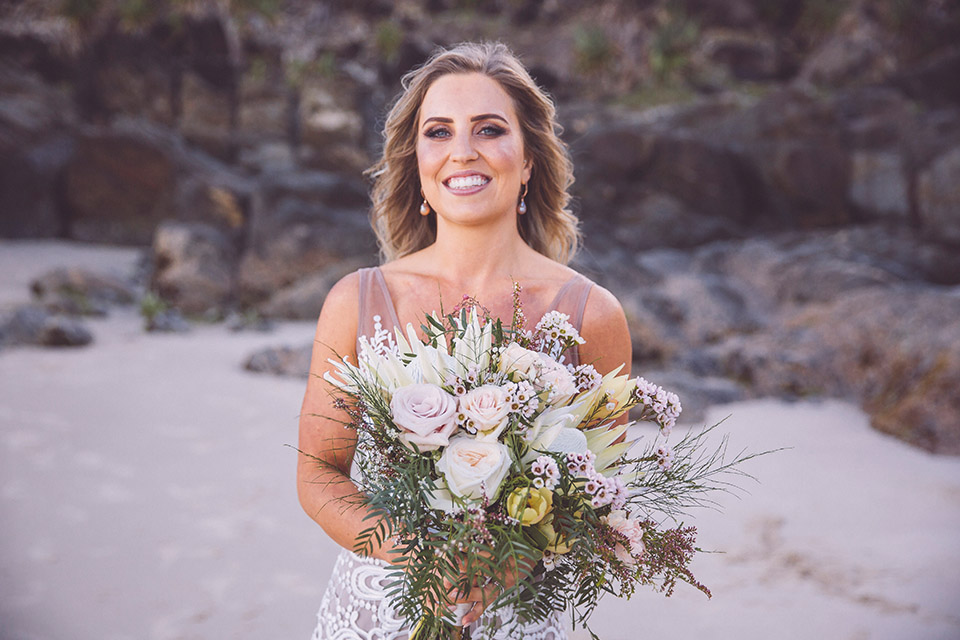 Byron Bay Elopement - Hitched In Paradise - Boho Bride