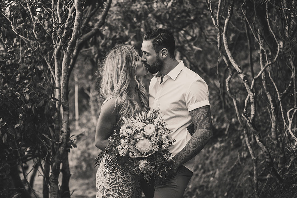 Byron Bay Wedding - Hitched In Paradise - Boho Elopement