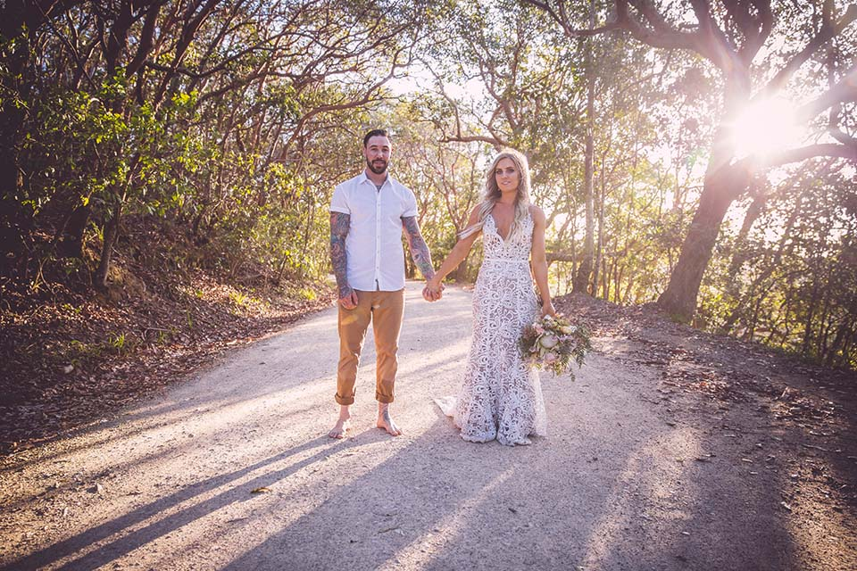 Byron Bay Elopement - Hitched In Paradise - Boho Wedding