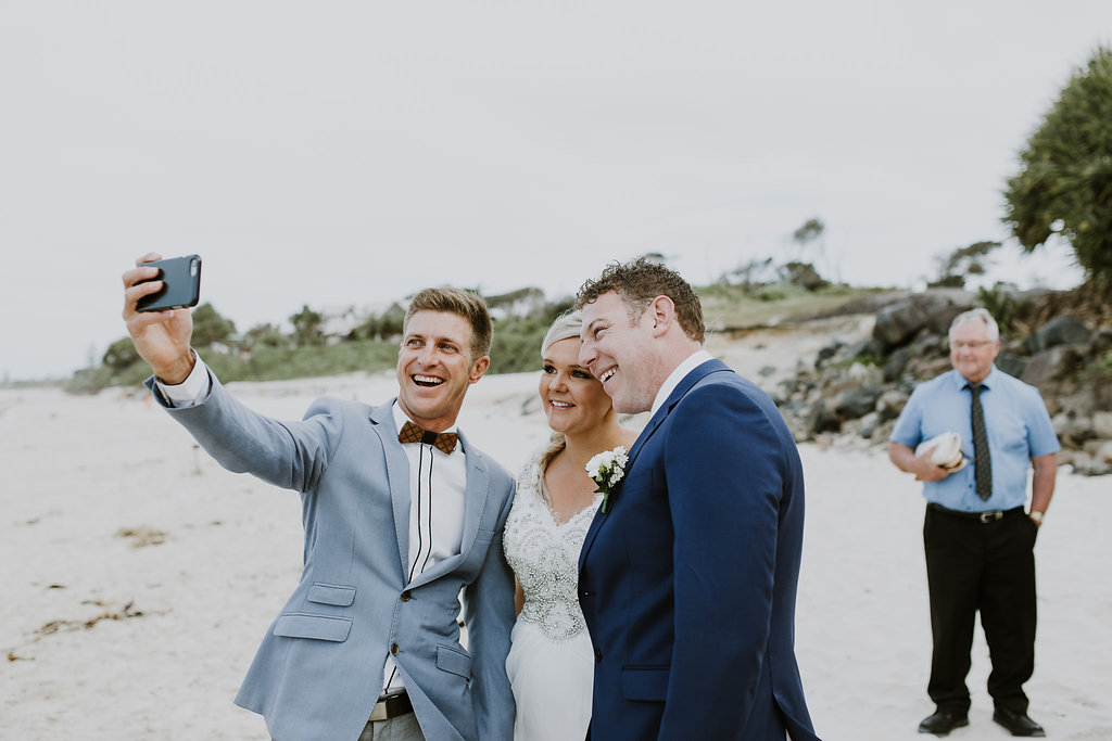 Belongil Beach Wedding - Benjamin Carlyle fun Marriage Celebrant