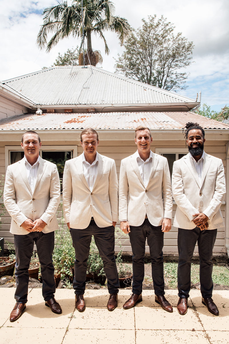 Figtree Restaurant - Byron Bay Wedding - Grooms Fashion
