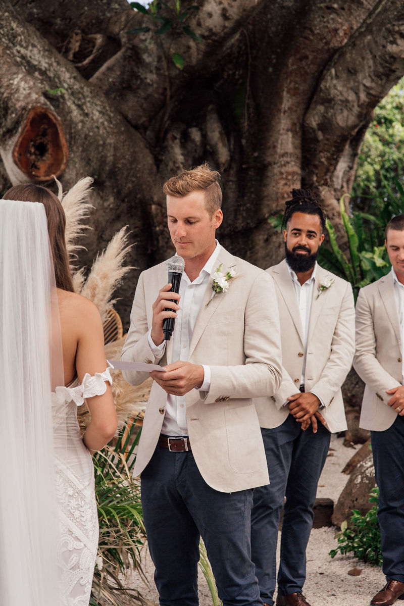 Figtree Wedding Vow - Figtree Restaurant - Byron Bay