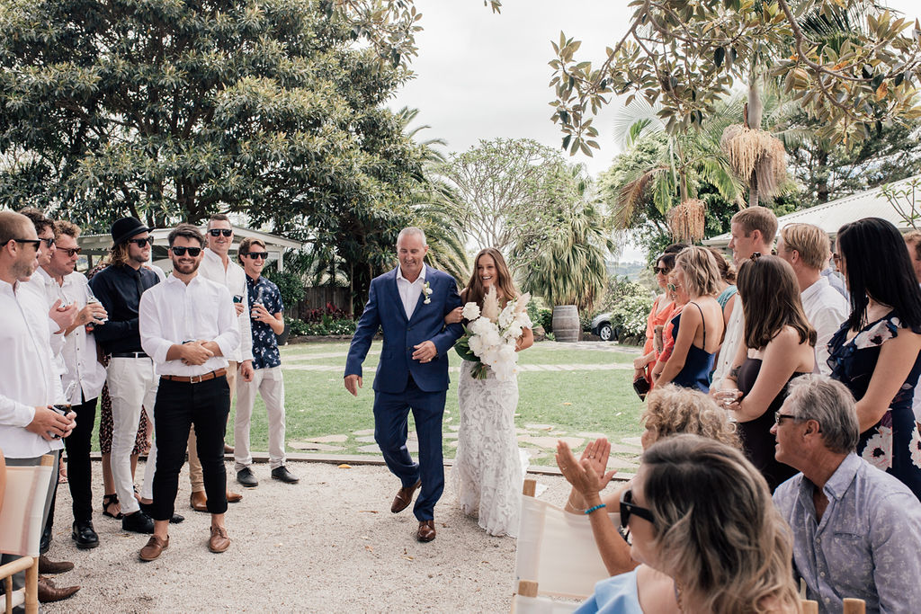 Figtree Restaurant - Byron Bay Weddings - Proud Dad Moment