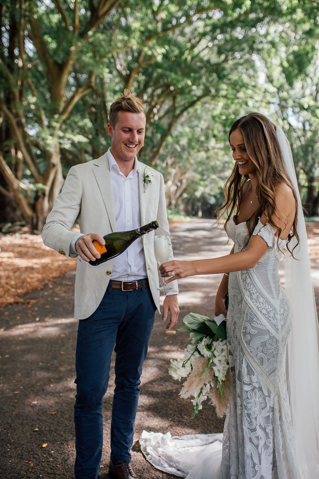 Tarsh & Steve - Champagne Time - Figtree Restaurant Wedding